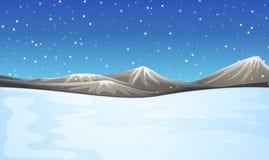 Forderung durchgesetzt mit Schnee stock abbildung