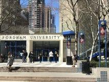 Fordham University in Manhattan stock image