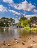 Fordingbridge和河Avon在汉普郡 免版税库存图片