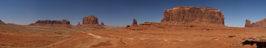 Fordpoint view. View from fordpoint in monument valley Royalty Free Stock Photo