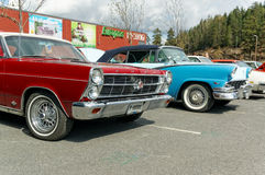 Fords in different colors Stock Photography