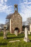 Fordyce的历史的教堂在阿伯丁郡,苏格兰 免版税库存图片