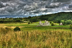 Fore Abbey, County Westmeath, Ireland. The ruins of Fore Abbey, a medieval Benedictine Abbey in County Westmeath, Ireland. The Abbey is situated in green fields Royalty Free Stock Photos