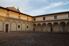 Fore courtyard of Florence Charterhouse church. Certosa di Galluzzo di Firenze. Italy. stock photography