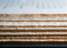 Fore edge of a an open book Royalty Free Stock Images