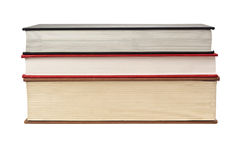 Fore edge of stack of three books Stock Image