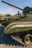 Fore part of the infantry fighting vehicle BMP-3 close-up. KADAMOVSKIY TRAINING GROUND, ROSTOV REGION, RUSSIA, 26 AUGUST 2017: International military technical Stock Photography