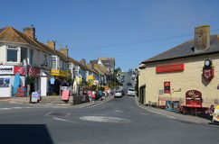 Fore Street, Newquay. Newquay, UK - 6th September 2012: Fore Street in Newquay, Cornwall.  Newquay is situated on the west coast of Cornwall and is one of the Royalty Free Stock Photos