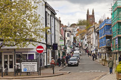 Fore Street Totnes. Typical day on Fore Street in the country town of Tones Devon England UK Royalty Free Stock Image