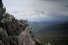 Foreboding mountain view Stock Image