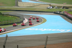 Forecars on first lap. At Interlagos Circuit during Brazilian Grand Prix 2008 stock photos
