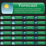 Forecast banners Stock Images
