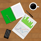 Forecast and business analysis Stock Images