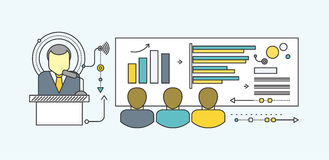 Forecast Concept Icon Flat Style. Forecast business growth graph, finance market progress chart, financial investment, profit marketing, diagram stock increase Royalty Free Stock Images
