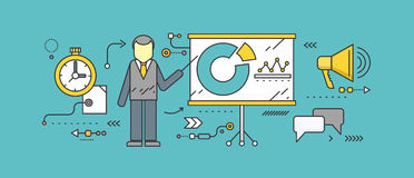 Forecast Concept Icon Flat Style. Business growth graph, finance market progress chart, financial investment, profit marketing, diagram stock increase, report Stock Image