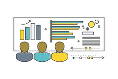 Forecast Concept Icon Flat Style. Business growth graph, finance market progress chart, financial investment, profit marketing, diagram stock increase, report Stock Images