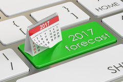 2017 forecast concept on the keyboard, 3D rendering. 2017 planning concept on the keyboard Stock Illustration