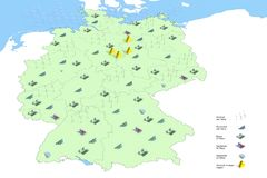 Forecast energy in Germany in 2050 Royalty Free Stock Photo