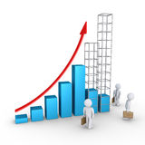 Forecast of graph and businessmen Royalty Free Stock Images