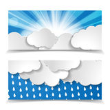 Forecast header set Stock Photo