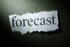 forecast headline Στοκ φωτογραφία με δικαίωμα ελεύθερης χρήσης