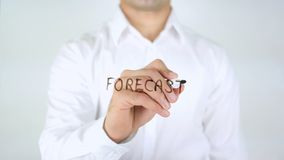 Forecast, Man Writing on Glass. High quality Royalty Free Stock Photos