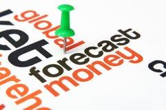 Forecast money concept. Close up of Forecast money concept Stock Image