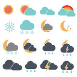 Forecast simple cute  Stock Image