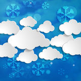 Forecast of snowly winter Stock Images