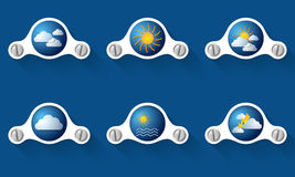 Forecast symbols Stock Photo
