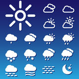 Forecast Vectors Set Royalty Free Stock Photos