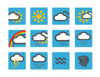 Forecast weather icons Royalty Free Stock Photography