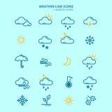 Forecast Weather Icons Set Stock Images