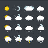 Forecast weather icons set Royalty Free Stock Images
