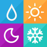 Forecast Weather Signs set great for any use, Vector EPS10. Royalty Free Stock Photography