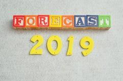 Forecast 2019. On a white background Royalty Free Stock Image