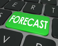 Forecast Word Computer Keyboard Button Future Finance Budget Est Stock Photography