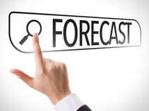 Forecast written in search bar on virtual screen stock images