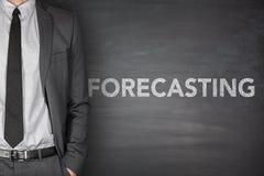 Forecasting on blackboard Stock Images
