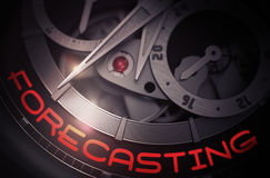 Forecasting on Luxury Watch Mechanism. 3D. Royalty Free Stock Images
