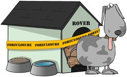 Foreclosed Dog House Stock Images
