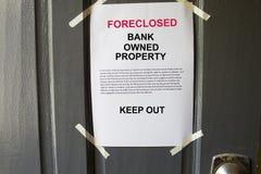 Foreclosed egenskap royaltyfri fotografi