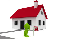 Foreclosed Home Stock Image