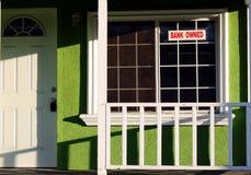 foreclosed hus Fotografering för Bildbyråer
