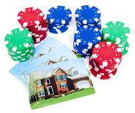 foreclosed huset för vad intecknar det chiper poker Arkivfoton