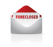 Foreclosed mail envelope. Illustration design over white Royalty Free Stock Image