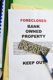 Foreclosed notice. On a loan mortgage on a property Royalty Free Stock Images