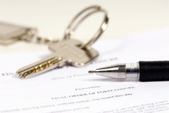 Foreclosure. A final order of foreclosure ready to sign. Lost Home Royalty Free Stock Image