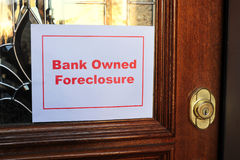 Foreclosure. Bank owned foreclosure are very common these days Stock Images