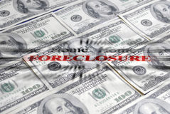 Foreclosure ane pieniądze Obrazy Royalty Free